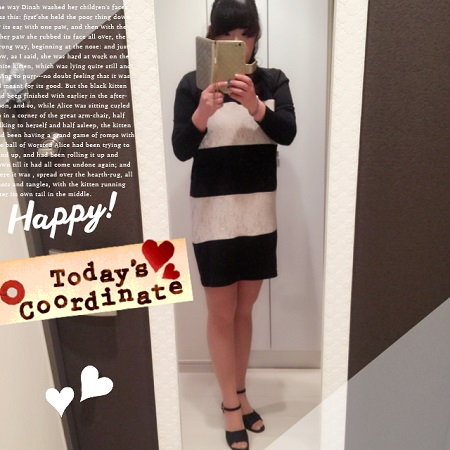 今日のコード,秋物ファッション,ハイヒール,秋物ワンピース