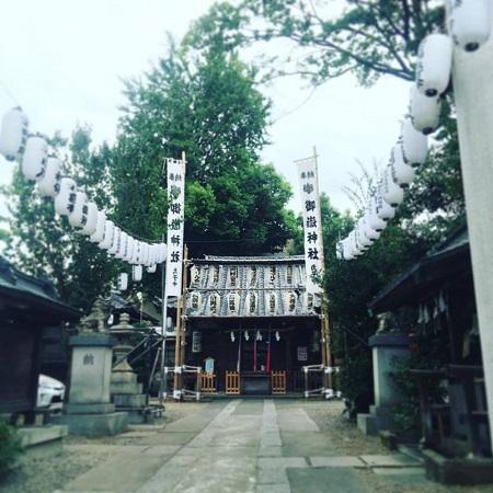 御朔日参り,お一日参り,神社.御嶽神社