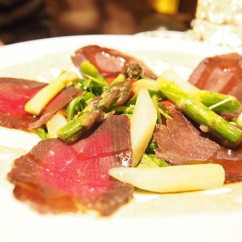 新宿レストラン,ダイニングバー,Heart Dinin' Bar&K,生ハムと白アスパラのサラダ
