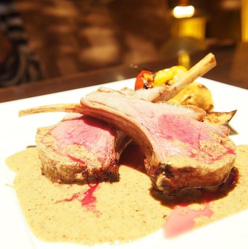 新宿レストラン,ダイニングバー,Heart Dinin' Bar&K,仔羊の骨付きグリル