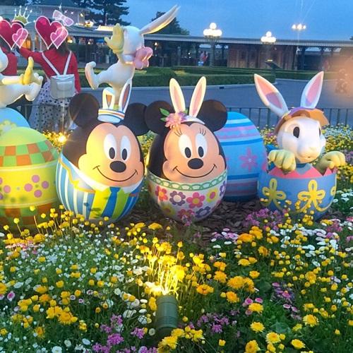 東京ディズニーランド,ディズニーランド,イースター祭り,ミッキーマウス,ミニーマウス,イースターミッキー