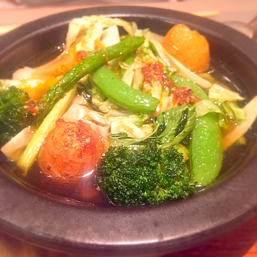 野菜のアヒージョ,あえん,あえん新宿