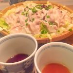 桜山豚と春キャベツ・新玉ねぎのざる蒸し,,あえん伊勢丹会館,伊勢丹あえん,あえん新宿,桜山豚